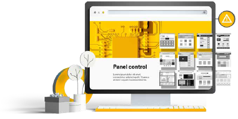 Your own control panel and a white label panel